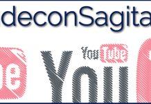 """texto """"Aprende con SagitaZ"""" sobre logo de YouTube fragmentado"""