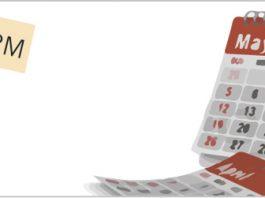 Calendario de mayo y el logo de Zoho por el dia zoho CRM maraton formación online