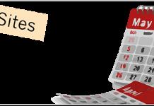 Calendario de mayo y el logo de Zoho por el dia zoho maraton formación online