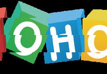 Logo de Zoho fragmentado
