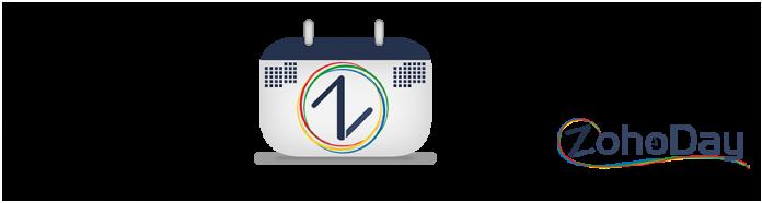 Calendario con el logo de SagitaZ y texto ZohoDay