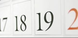 Numeros de los dias en un calendario