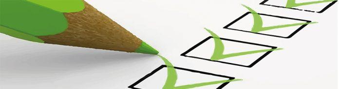 Lapiz verde y una encuesta