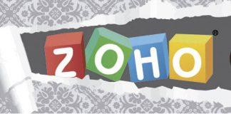 Logo de Zoho CRM en un dibujo de una pared de papel