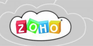 Logo de zoho en una nube dibujada