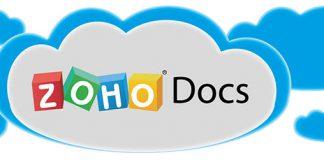 Logo de Zoho docs en una nube dibujada