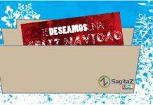 Dibujo de sobre SagitaZ con felicitaciones de navidad