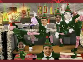 Felicitacion de navidad elfos