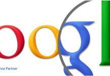 Logo de Google con lupa