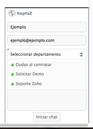 zoho-livedesk-seleccionar-departamento-sagitaz.com