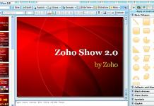 captura de pantalla de zoho show