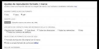 captura de pantalla de zoho recruit de la nueva plantilla personalizable para curriculum vitae