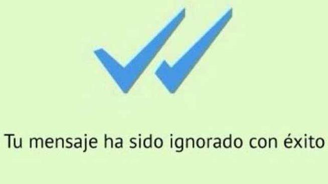 meme del doble check azul de whatsapp con texto