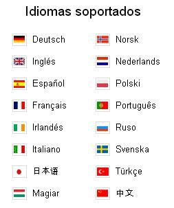 captura de pantalla de los idiomas soportados por zoho discussions