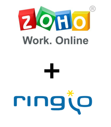 logo de zoho work online mas logo de ringio