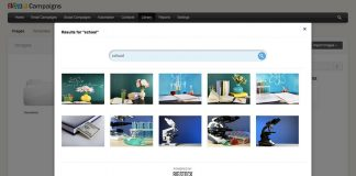 zoho campaings captura de pantalla de bigstock