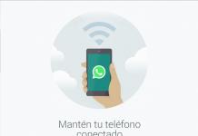captura de pantalla de whatsapp web con texto