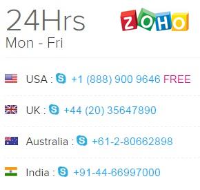 telefonos-zoho-invoice
