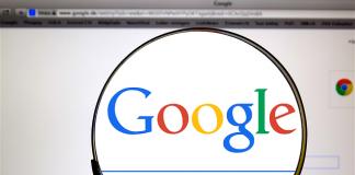 lupa encima de google
