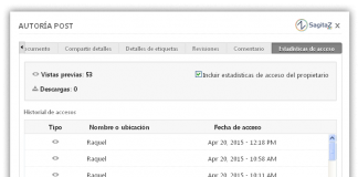 zoho docs captura de pantalla del panel de estadisticas