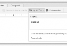 captura de pantalla de zoho writer pestaña de herramientas