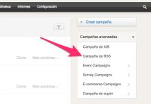 zoho campaigns captura de pantalla de la pestaña para crear una campaña