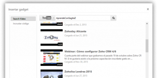 captura pantalla zoho show como intertar gadget video