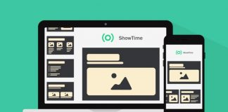 zoho showtime en las pantallas de dispositivo movil y ordenador portatil