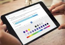 aplicacion de zoho writer el modo editar en la pantalla de un ipad