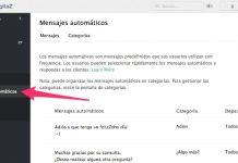 zoho salesiq captura de pantalla del panel de mensajes automaticos