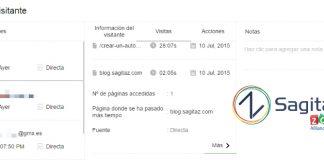 zoho salesiq captura de pantalla de la pestaña de historial del visitante