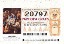 imagen de un numero de loteria del gordo de navidad