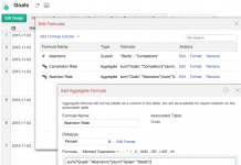 zoho reports captura de pantalla de la pestaña de editar formulas