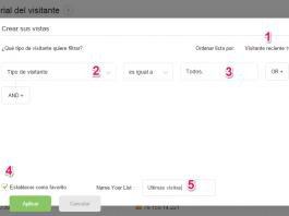 zoho salesiq captura de pantalla de la ventana de historial del visitante pestaña para crear vistas