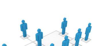 dibujo de personas formando una jerarquia