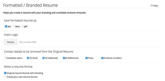 zoho recruit captura de pantalla en ingles de