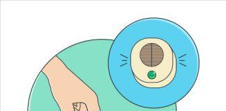 logo de zoho bugtracker en un dibujo de una mano pulsando un boton