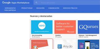captura de pantalla de google apps zoho people destacada