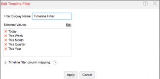 zoho reports captura de pantalla de la pestaña para editar el filtro