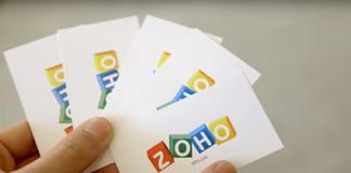 tarjetas de visita de zoho