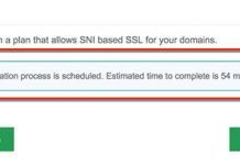 captura de pantalla de SSL hosting