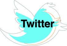 logo twitter celeste sobre fondo blanco