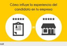 """dibujo de un curriculum y una casa y texto """"como influye la experiencia del candidato en tu empresa"""""""