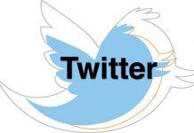 logo de twitter azul sobre fondo blanco