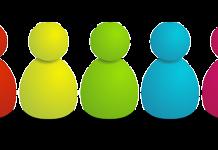 dibujo de monigotes de colores