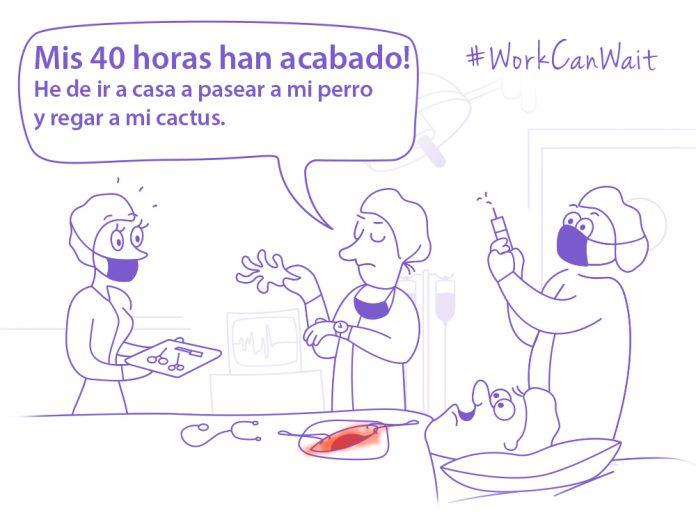 comic cirujanos operando con texto