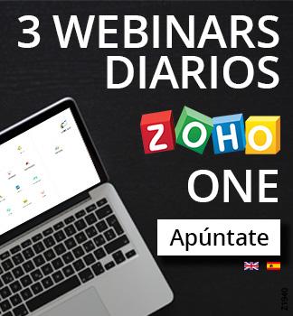 3 Webinars diarios ZOHO ONE Apúntate