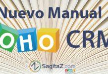 """texto """"nuevo manual zoho crm"""" sobre imagen de un libro abierto"""