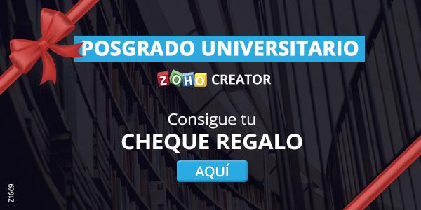 Posgrado Universitario Zoho Creator Cheque Regalo SagitaZ