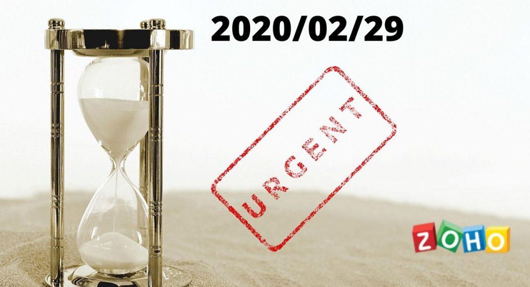 Actualización licencias ZOHO